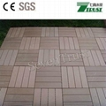 cheap outdoor wpc DIY tiles 300x300mm
