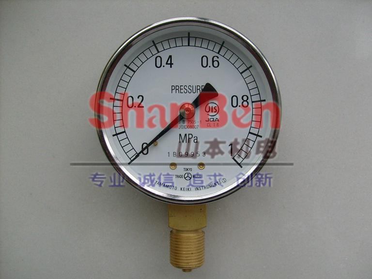 供應日本進口山本計器 普通型壓力計 2