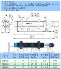 移印机常用油压缓冲器AC1415 SC1415-1/2/3 快速调整型阻尼减震器