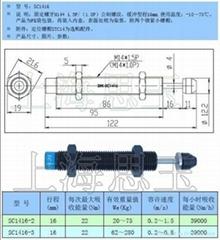 自动补偿型缓冲器AC1416 SC1416-1-2-3 全牙M14*1.5 M14*1抗震型