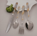 Gold Plated spoon and fork set