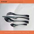 stainless steel wedding 4pcs  black cutlery set