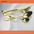 High quality wedding gold cutlery