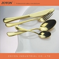High quality wedding gold cutlery