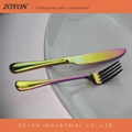 stainless steel rainbow cutlery