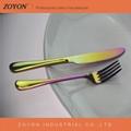 stainless steel rainbow cutlery