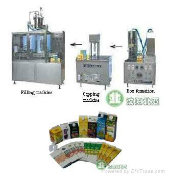屋顶盒液体灌装机酸奶牛奶设备13940406166 3