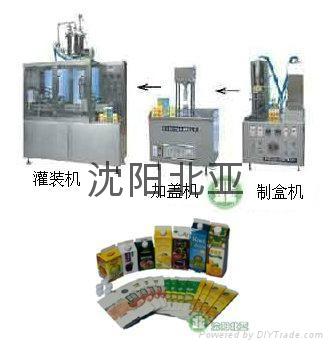 屋顶盒液体灌装机酸奶牛奶设备13940406166 4