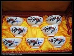 高档日用手绘梅花陶瓷碗