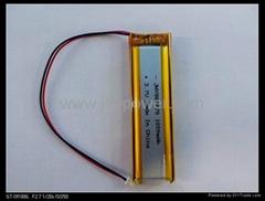 DVD/GPS 聚合物锂离子电池3.7v 802028 410mah