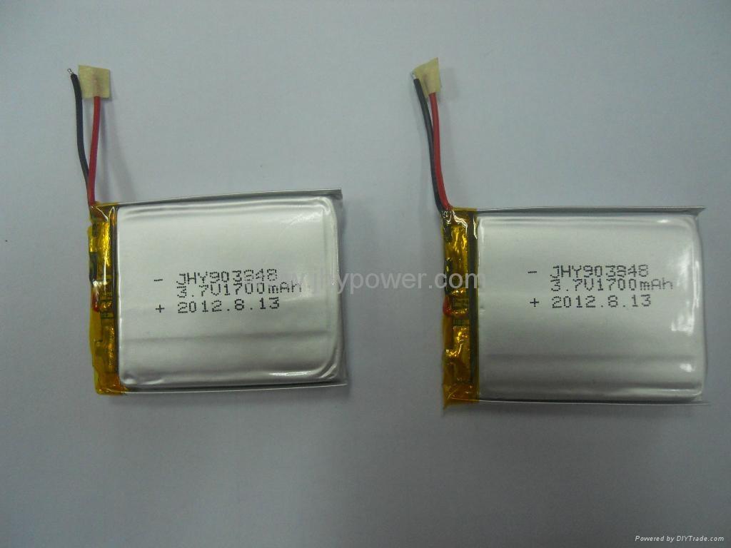 导航仪可充电锂离子电池3.7v 514046 1000mah 5