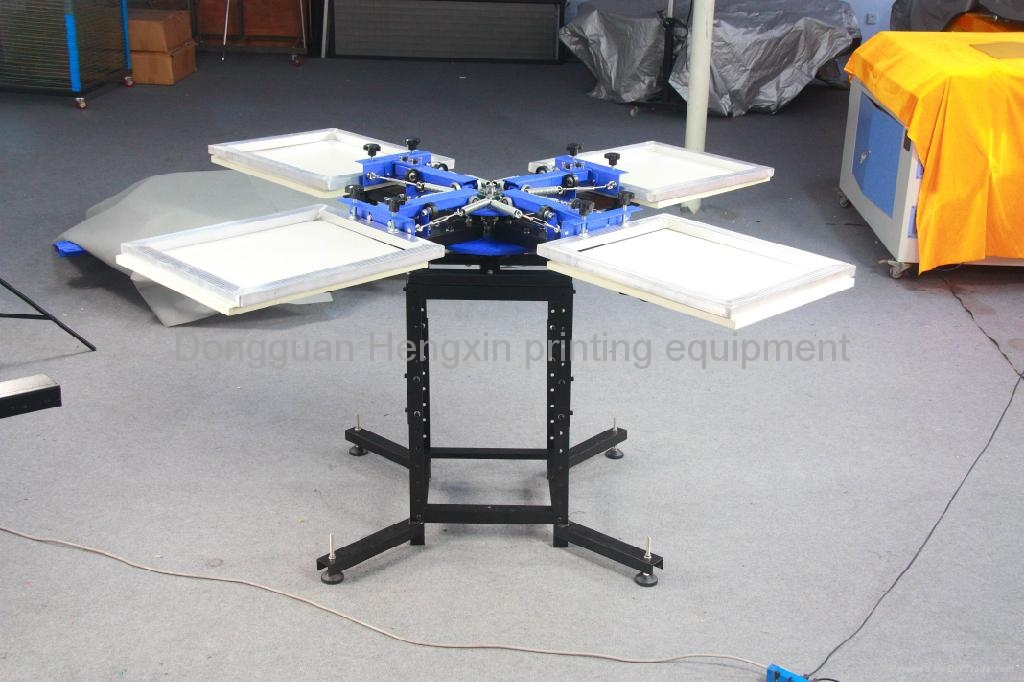 4 color 4 station manual t shirt screen printing machine for Colour t shirt printing