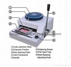 manual PVC card embosser