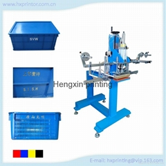 HP-108C factory plastic box /rubbish bucket hot stamping machine