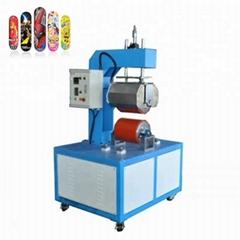 Skateboard heat transfer press machine
