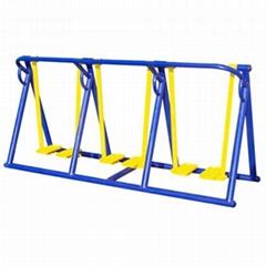 陝西西安室外健身器材三聯漫步機