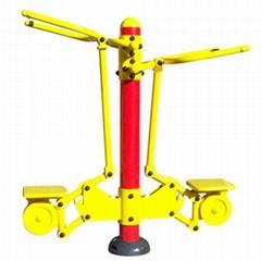 陝西室外健身器械雙位坐拉器
