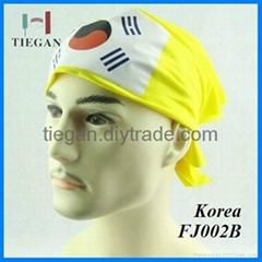 Fashion colorful  Korea Flag Polyester Bandana