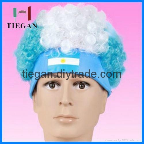 Phenomenal Argentina Crazy Afro Wig Party Wig Hat With Eslatic Band Tg Dc Hairstyles For Women Draintrainus