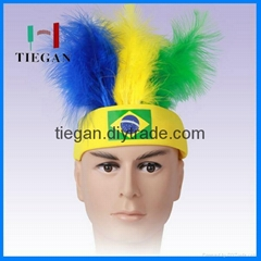 2015 soccer fans wig crazy hair synthetic wig for promotion events