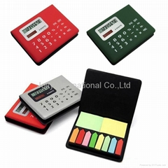 Calculator with notepaper