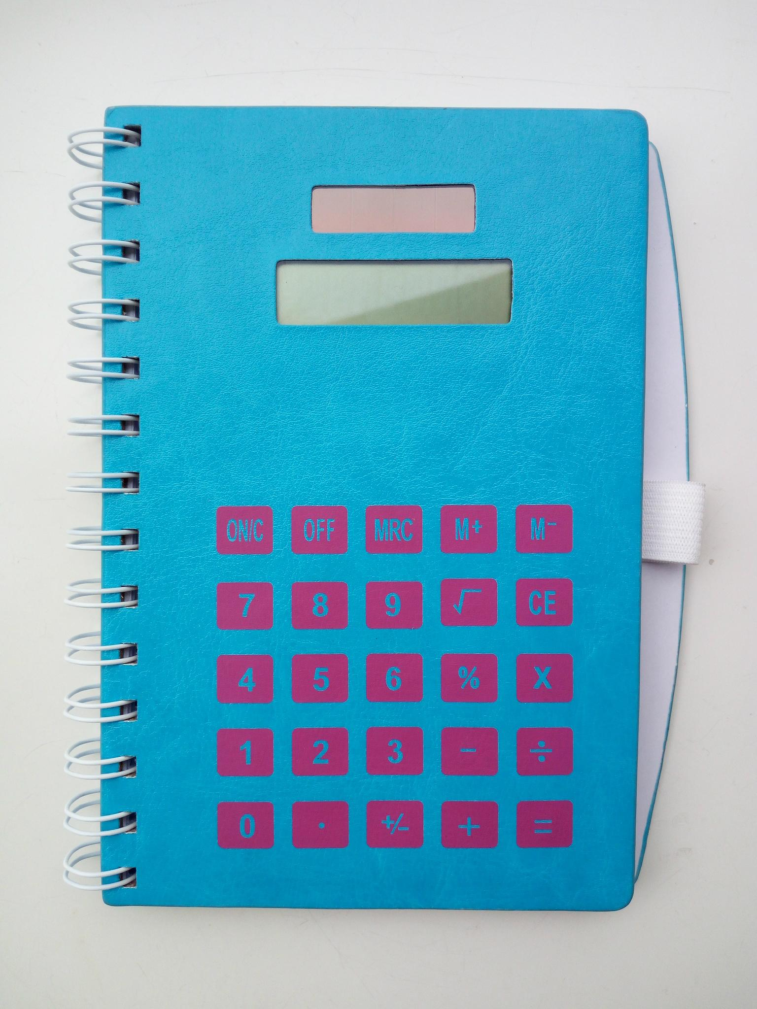 70 pages of notebook with calculator and pen 1