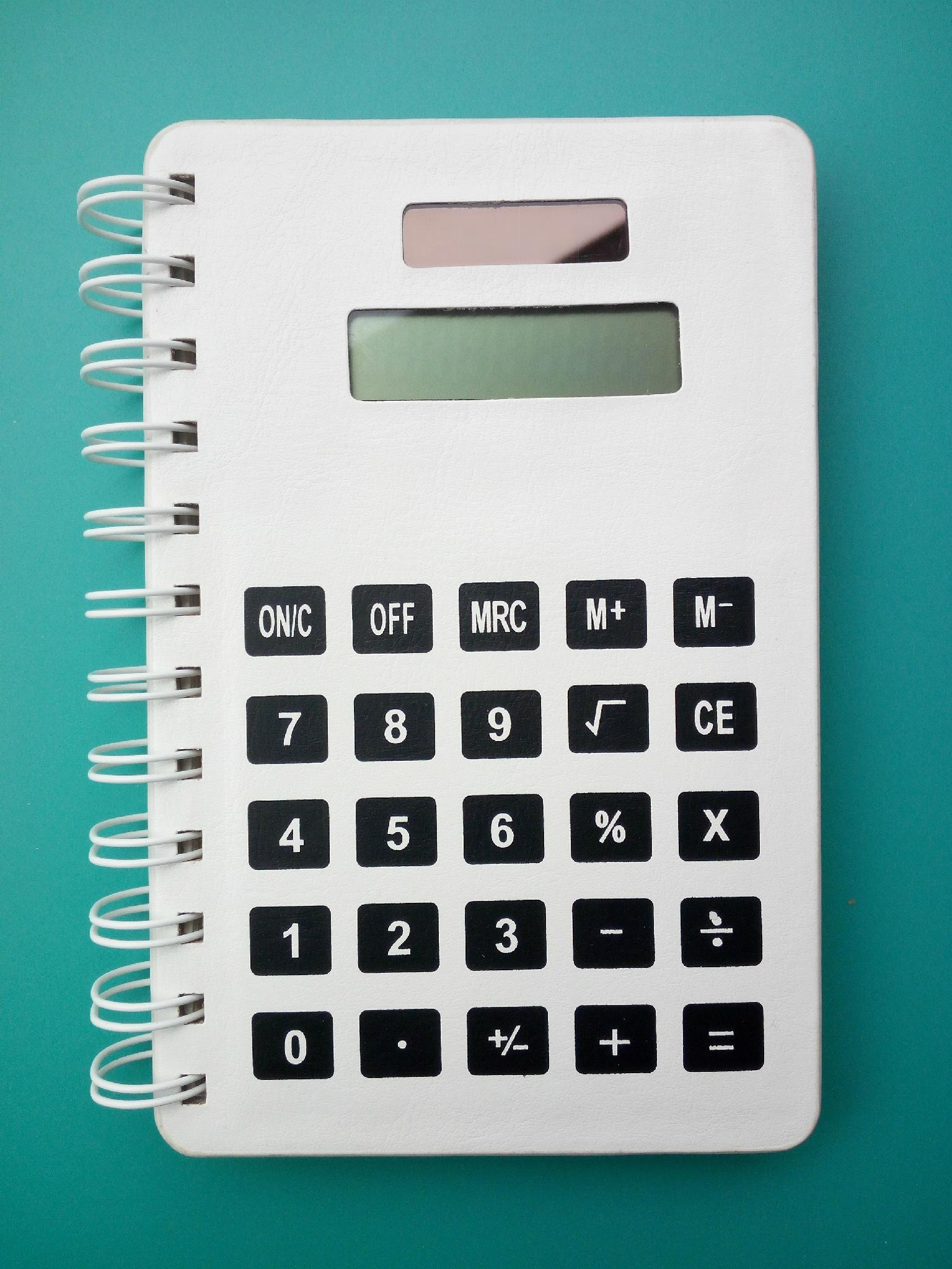 customerize Kraft & PU Leather notebook with calculator 1