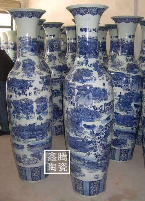 1.8米青花瓷大花瓶 1