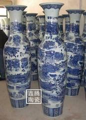 1.8米青花瓷大花瓶