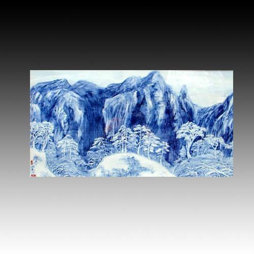 手工畫青花瓷板畫 2