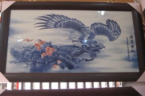 手工畫青花瓷板畫 3