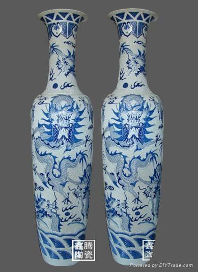 青花陶瓷大花瓶 1