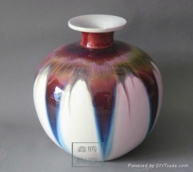 色釉窯變花瓶 4