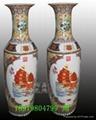 手繪青花陶瓷大花瓶