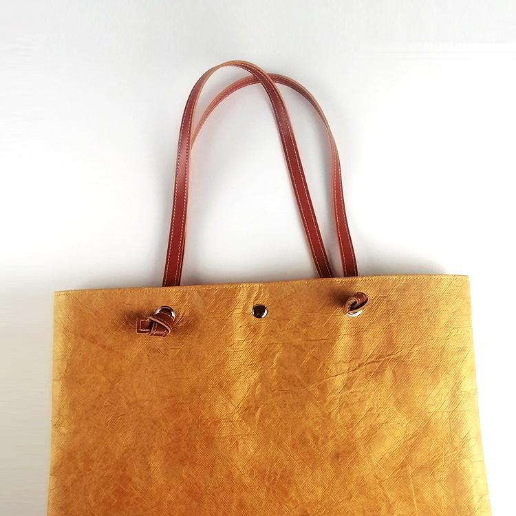 防水杜邦紙手提袋 環保休閑購物袋 可折疊手提包便攜簡約杜邦紙袋 3