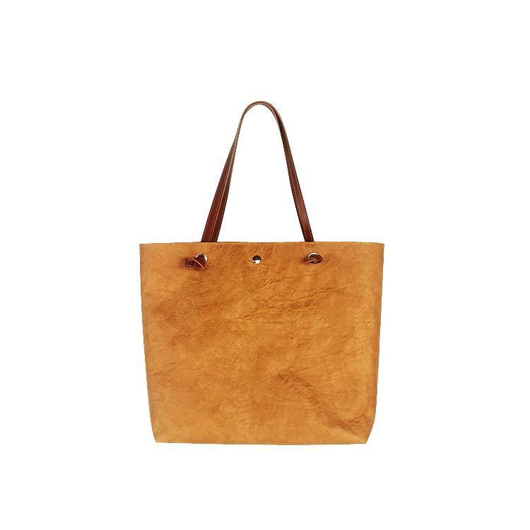 防水杜邦紙手提袋 環保休閑購物袋 可折疊手提包便攜簡約杜邦紙袋 5