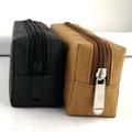 水洗牛皮紙筆袋 純色環保文藝鉛筆袋  旅行化妝袋收納袋 可印logo 2