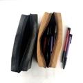 水洗牛皮紙筆袋 純色環保文藝鉛筆袋  旅行化妝袋收納袋 可印logo 4