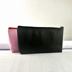 牛皮紙筆袋 文具用品收納袋 大容量防水純色化妝包 航空袋