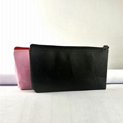 牛皮纸笔袋 文具用品收纳袋 大容量防水纯色化妆包 航空袋
