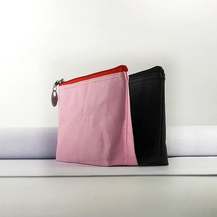 牛皮紙筆袋 文具用品收納袋 大容量防水純色化妝包 航空袋 2