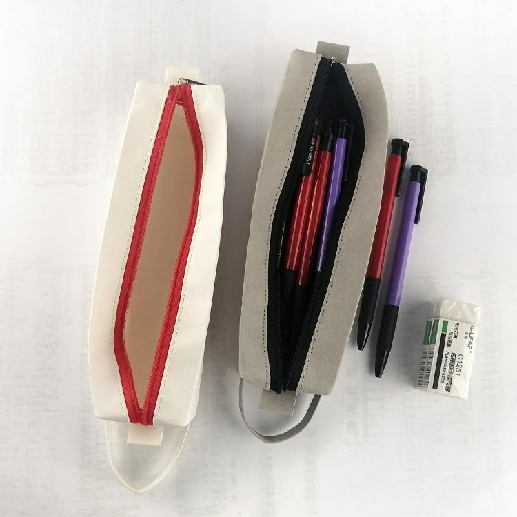 Washable Kraft Paper Pencil case Eco-friendly makeup bag 4