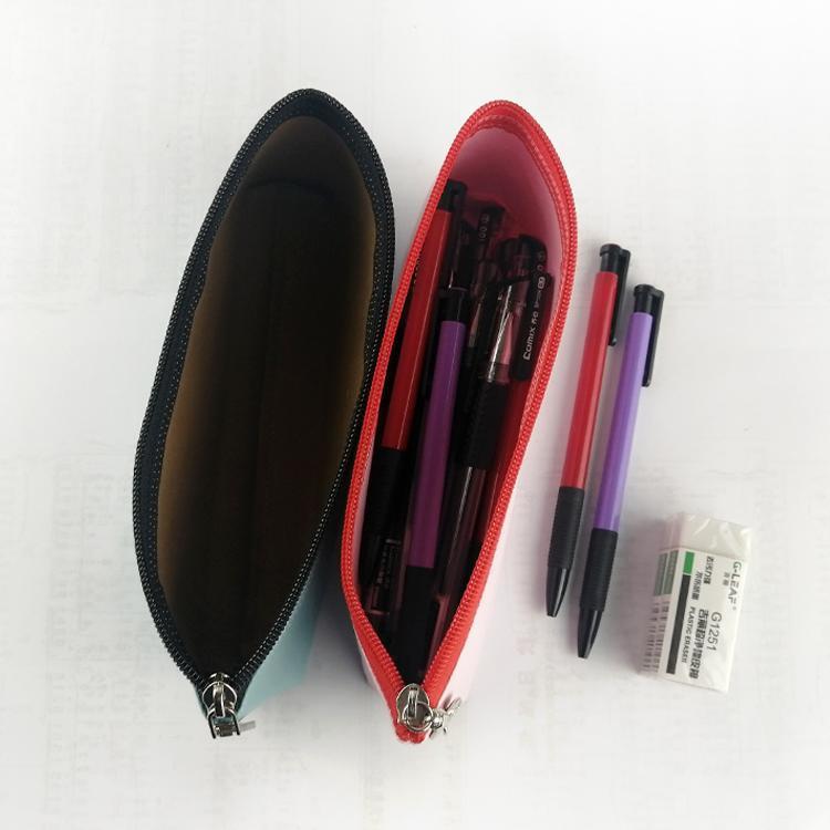 水洗牛皮纸笔袋 多功能文具用品收纳袋 简约防水纯色笔袋可印logo 4