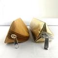 牛皮紙筆袋 環保耐用金色文具鉛筆袋 純色簡約化妝收納袋可印logo 2