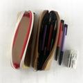 牛皮纸笔袋 环保耐用金色文具铅笔袋 纯色简约化妆收纳袋可印logo 4