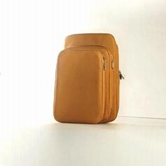 水洗牛皮紙化妝袋 多功能牛皮紙化妝包 簡約大容量純色化妝收納袋