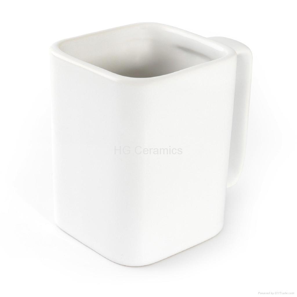 real square mug hg ceramics china manufacturer cup mug