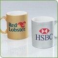 gold , silver sublimation mugs