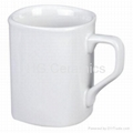 Square mug, sublimation coated