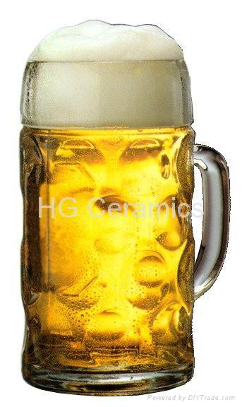glass beer stein 1 liter hg1l hg glass china manufacturer glassware crafts products. Black Bedroom Furniture Sets. Home Design Ideas